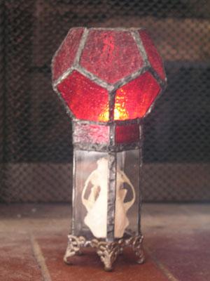 Encased skull tea candle by Future-Vintage