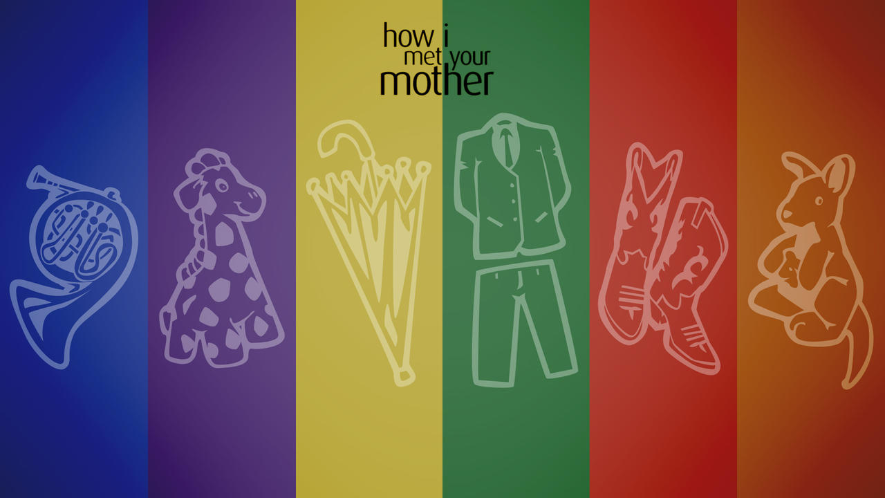Yellow Umbrella How I Met Your Mother Poster How I Met Your Colors by