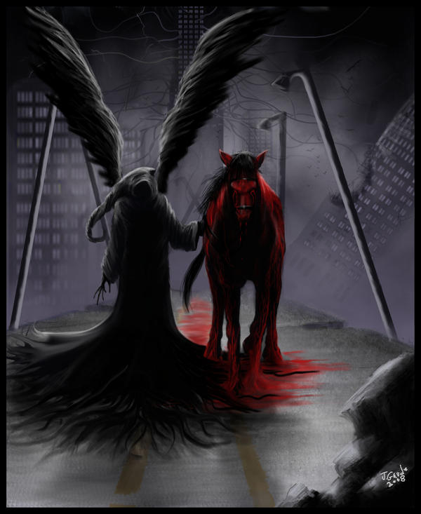 Death And The Blood Red Horse By Destinyfall On Deviantart