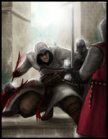 Altair whips Templar ass by Destinyfall
