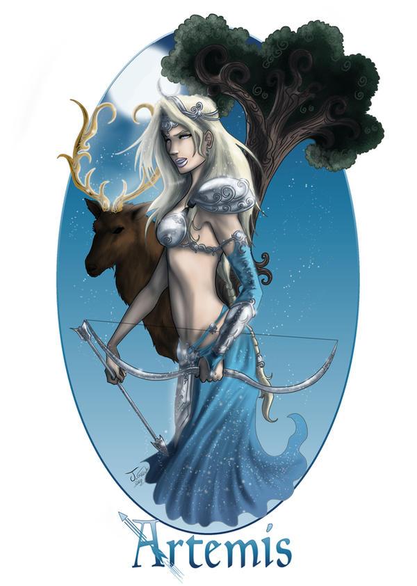 Artemis Goddess Of The Hunt By Destinyfall On Deviantart