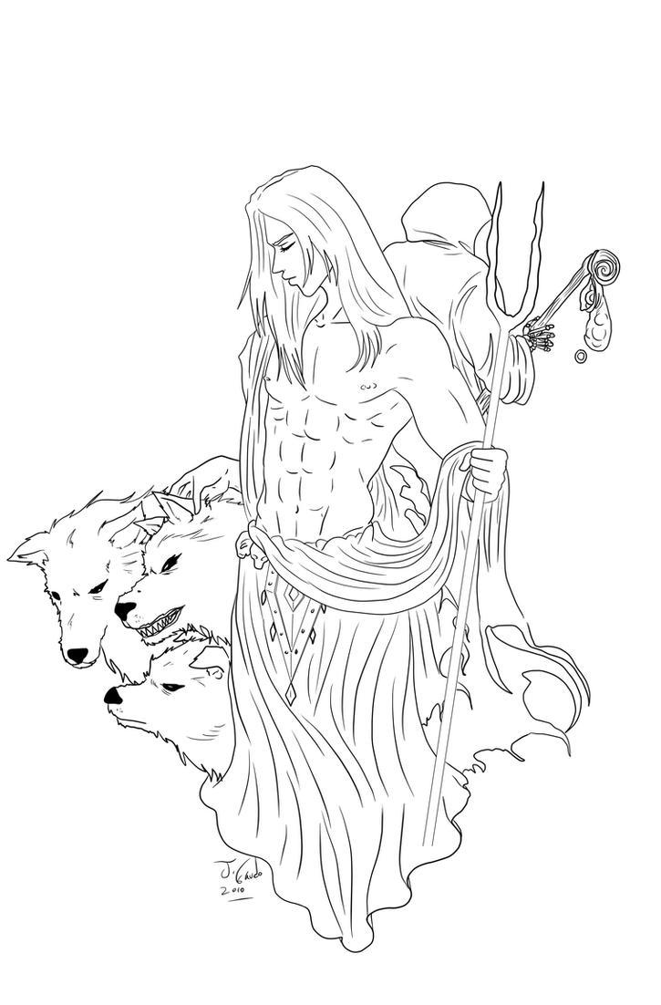 Display 304 Greek God Hades Drawing | WSOURCE