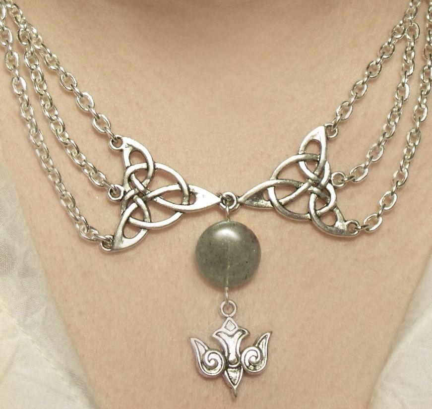Triple Goddess moon necklace by Destinyfall