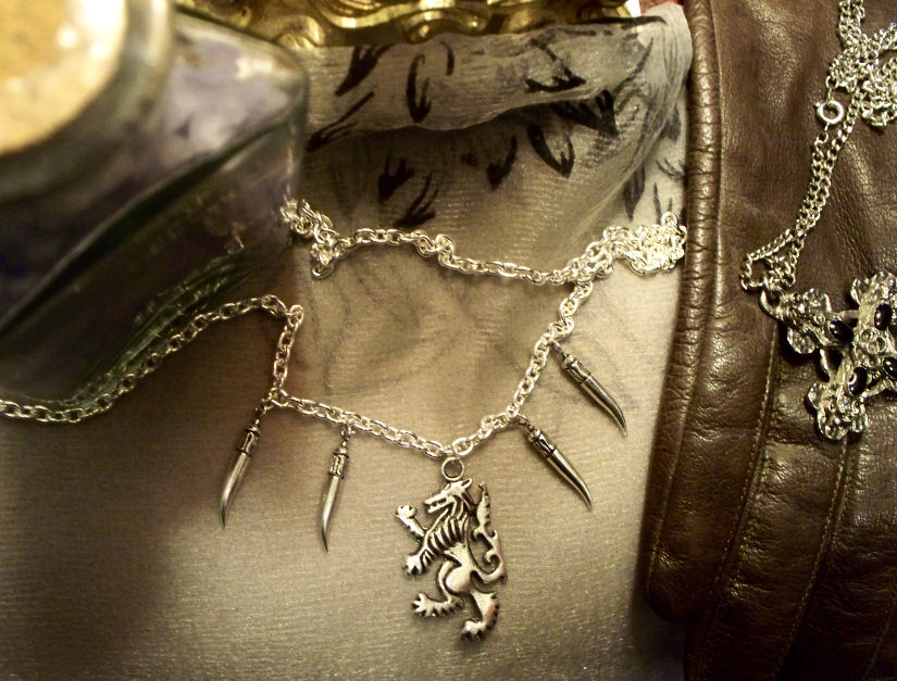 The Werewolf Hunter-necklace by Destinyfall