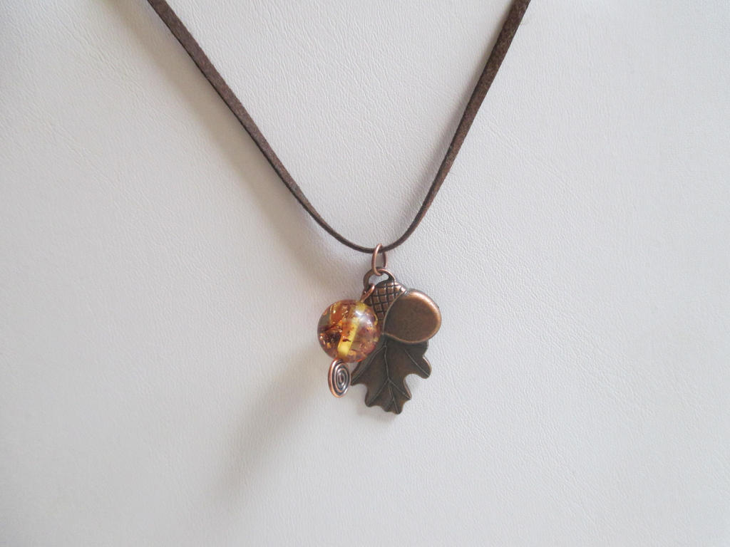Thor's Oak Amber Necklace by Destinyfall