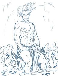 Soul Bath WIP (Disney Hades) by Destinyfall