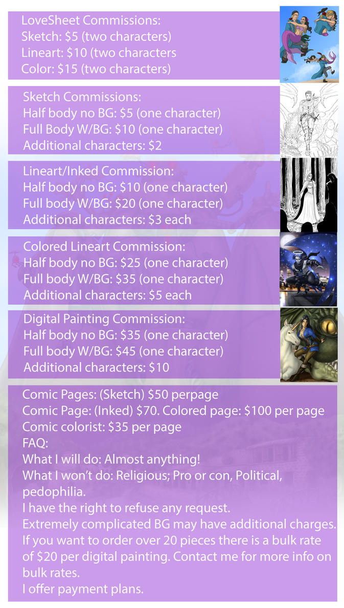 Commission price list by Destinyfall
