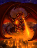 Flame Heart Dragon (commission)