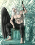 Sephiroth Materia throne (clothed)