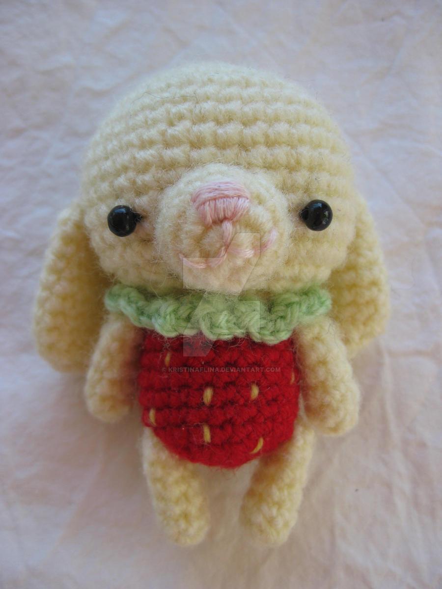 Amigurumi Strawberry Doll Pattern : Amigurumi, Strawberry rabbit by Kristinaflina on DeviantArt
