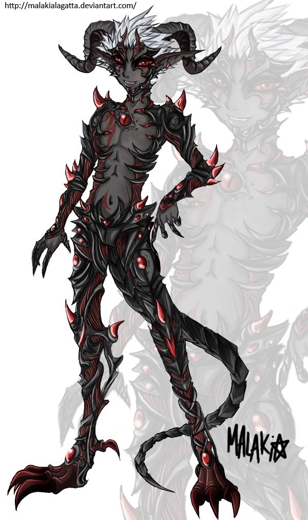 Demon Form. by MalakiaLaGatta on DeviantArt
