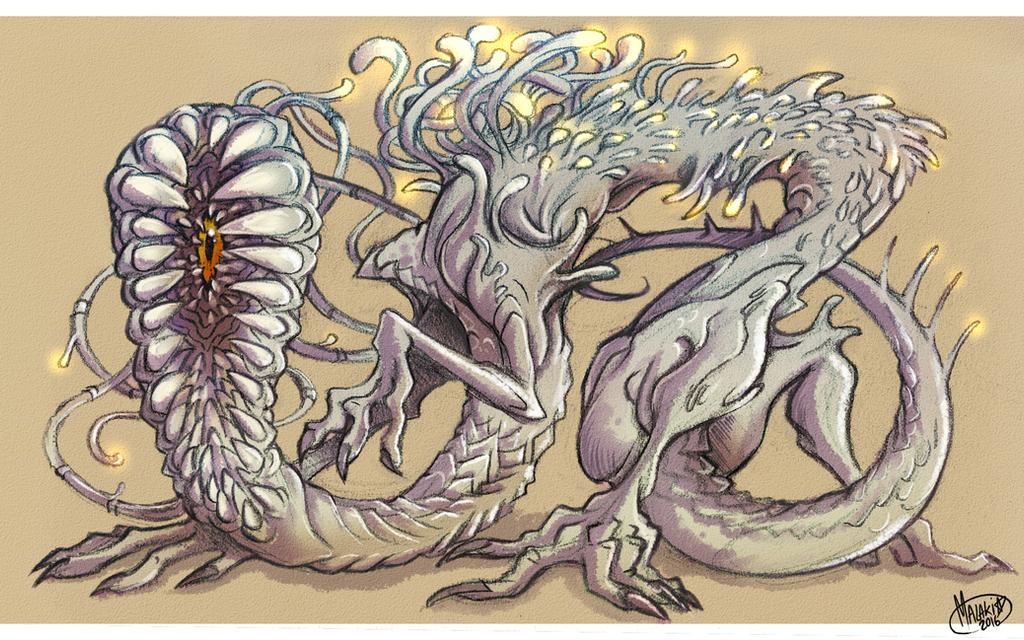 .Commission - Creeping Beast. by MalakiaLaGatta