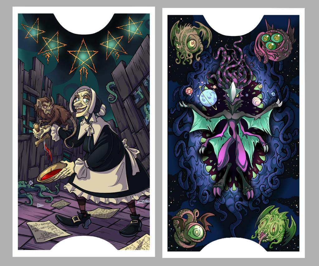 .Lovecraft Tarot: Stars + Cosmos. By MalakiaLaGatta On