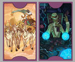 .Lovecraft Tarot: The Chariot +The Magician.