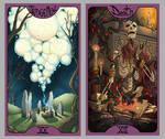 .Lovecraft Tarot: Judgement + Death.