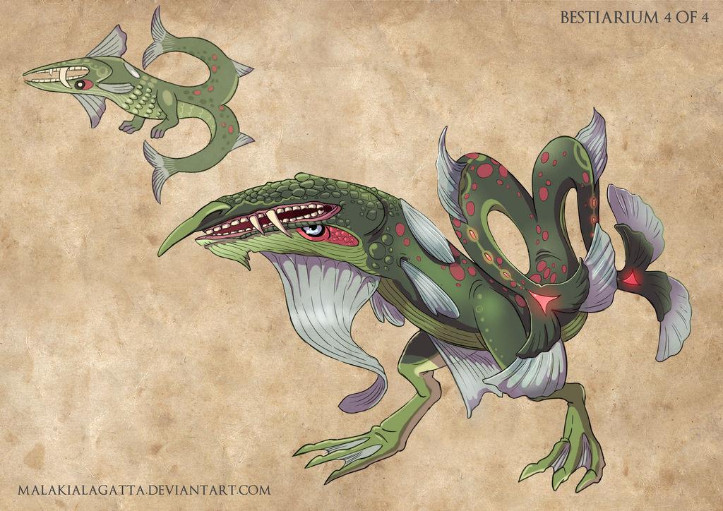 .Bestiarium Creature Design 4. by MalakiaLaGatta