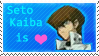 'Kaiba is heart' Stamp by Strah