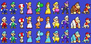 New Mario Sprites by koopaul
