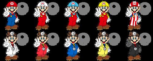Smash Character: Mario / Dr. Mario by koopaul