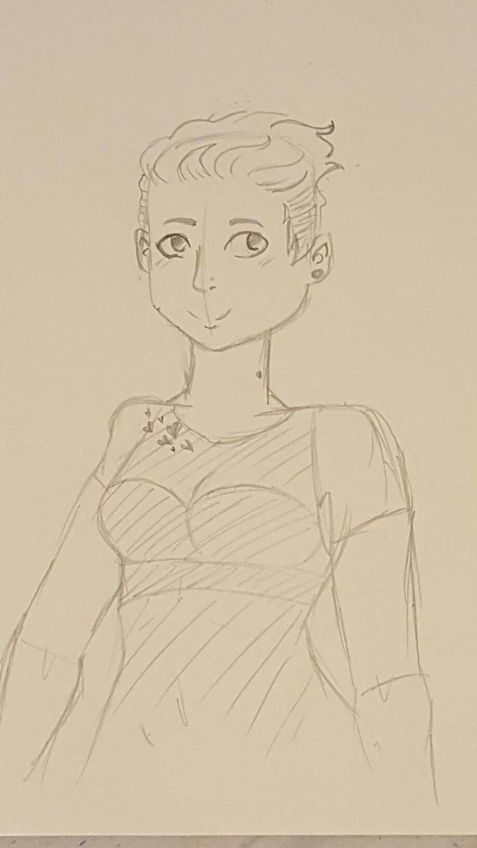 Sketch practice: concert dress  by M-Kelley