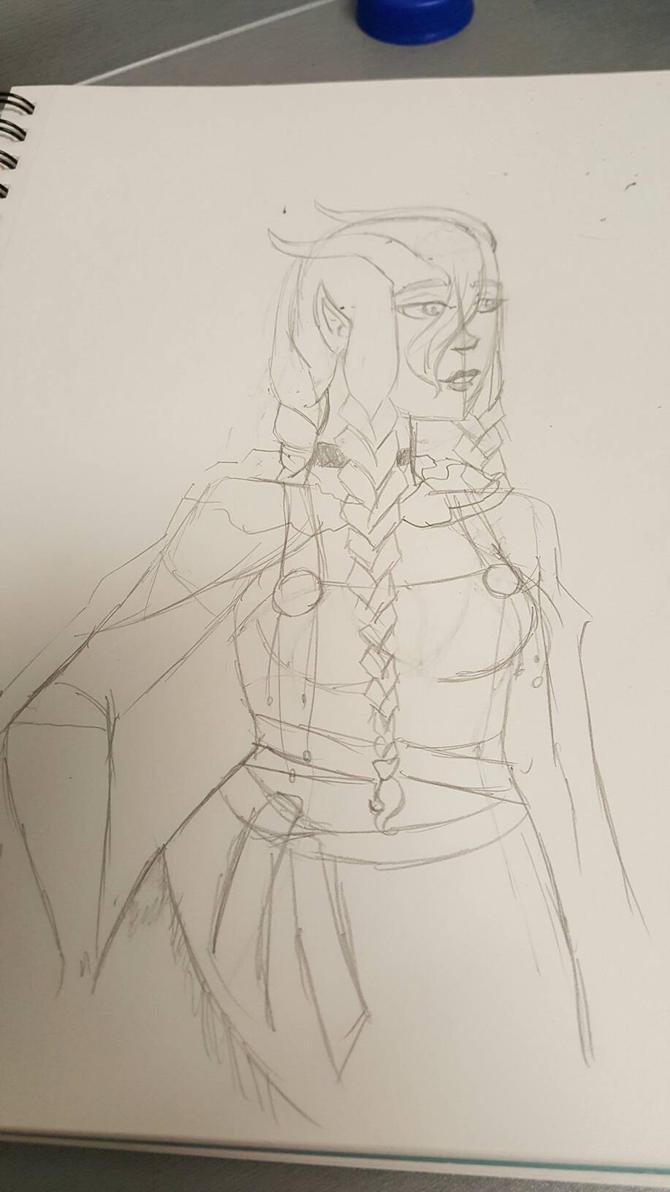 sketch practice: viking Era Amber.  by M-Kelley