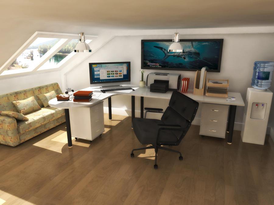 Attic Office By H8tredsoul On Deviantart