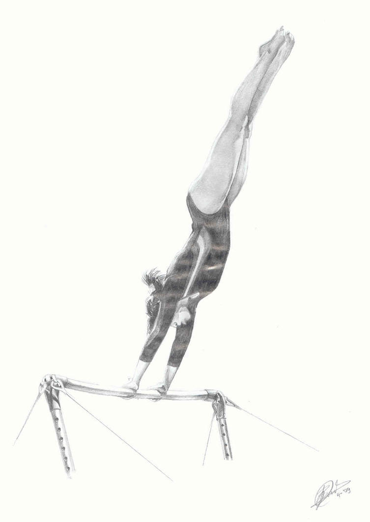 How To Draw Rhythmic Gymnast
