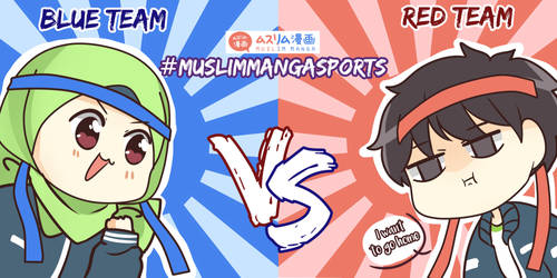 Sports Day Red And Blue Team by muslimmanga