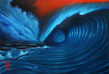 Red Sky Wave 1 by redeyelaboratories
