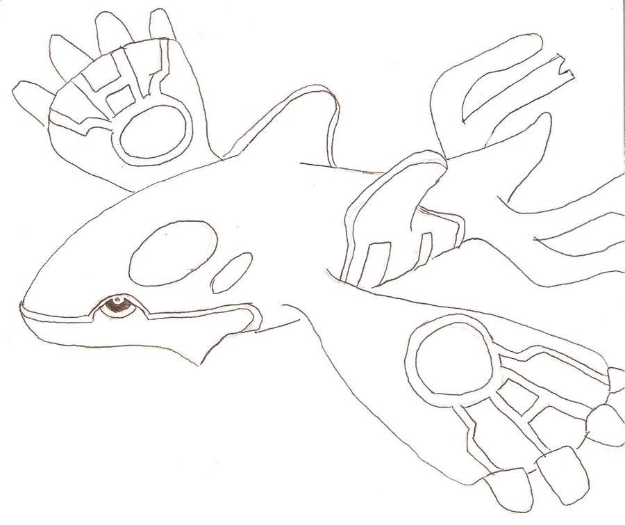 pokemon mega kyogre coloring pages - photo#19