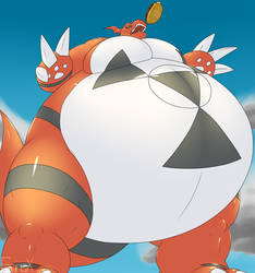 Tubby Tank Guilmon by RickyDemont