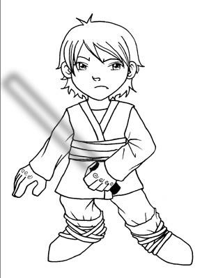 Luke skywalker sd by juliacabral on deviantart for Luke skywalker coloring page