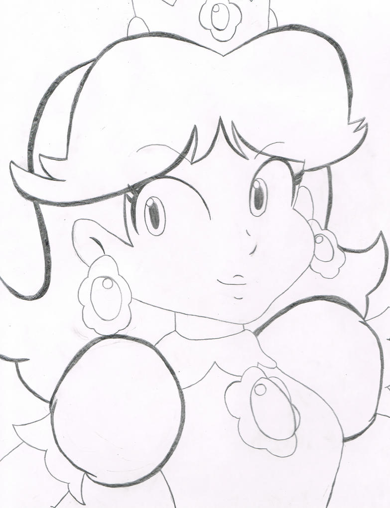 daisy mario coloring pages - photo#32