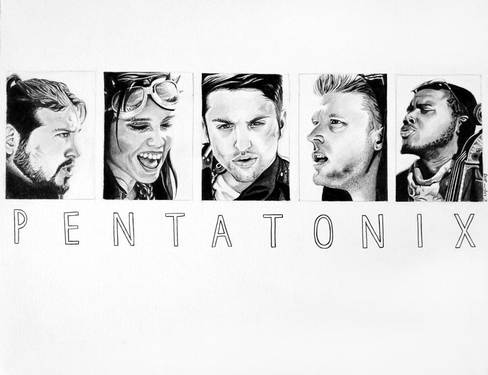 Pentatonix by MyOpenSketchbook