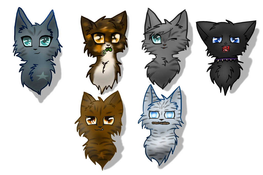 Warrior Cat Headshots By Mythic Flame On Deviantart