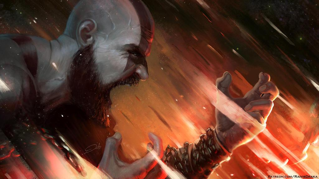 Kratos, Spartan Rage by Raivis-Draka