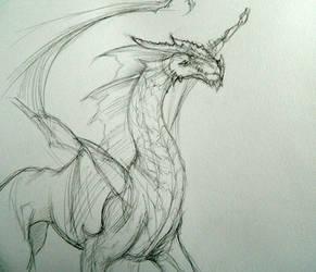 Dragon Sketch - 2012 by BunnyBrush