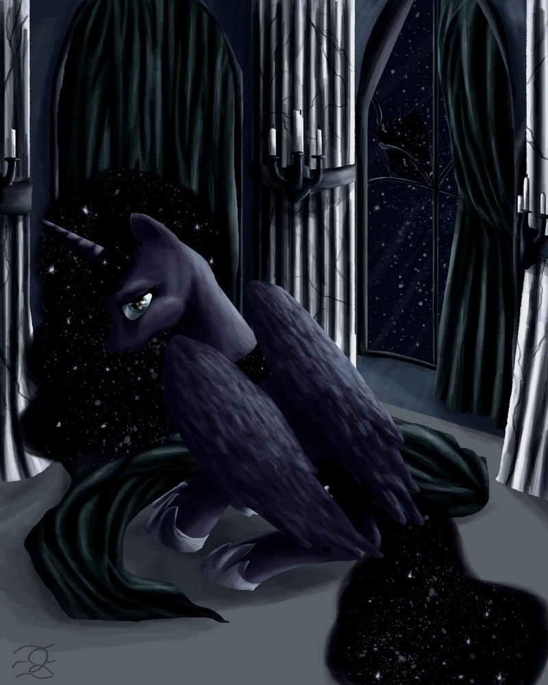 Portrait of Princess Luna by QuintessantRiver