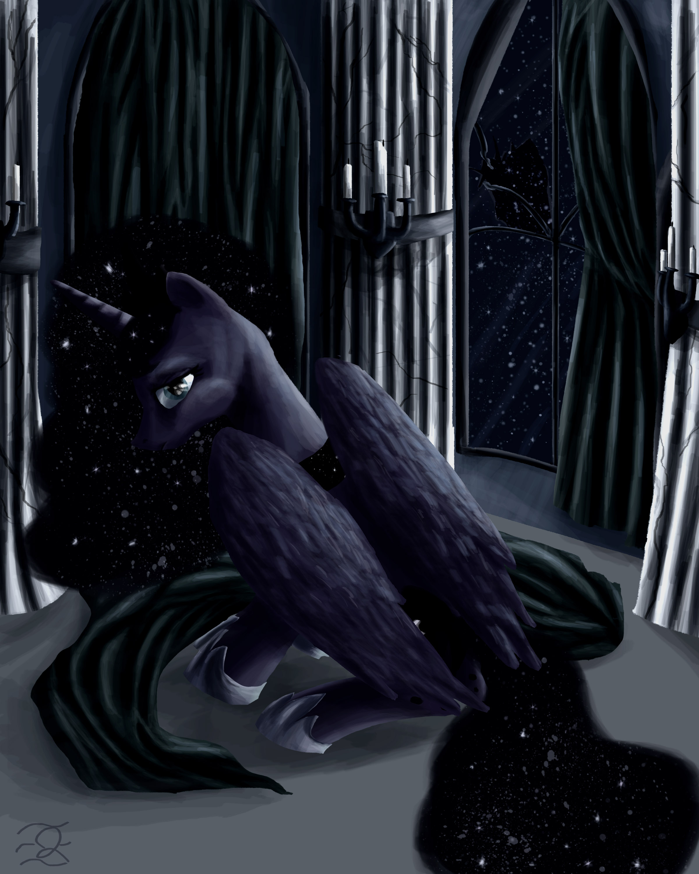 Portrait of Princess Luna by QuintessantRiver