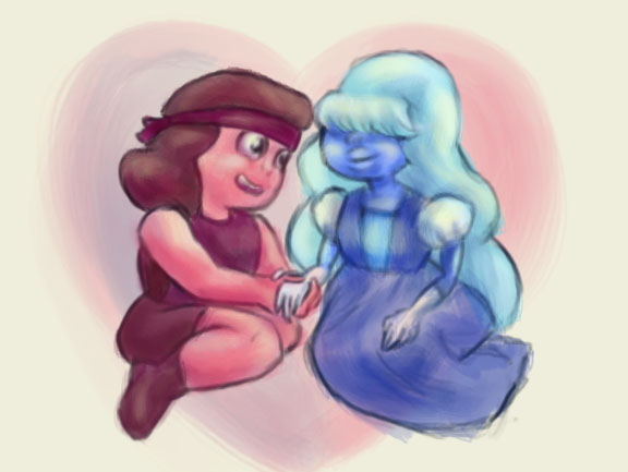 Sapphire And Ruby by QuintessantRiver