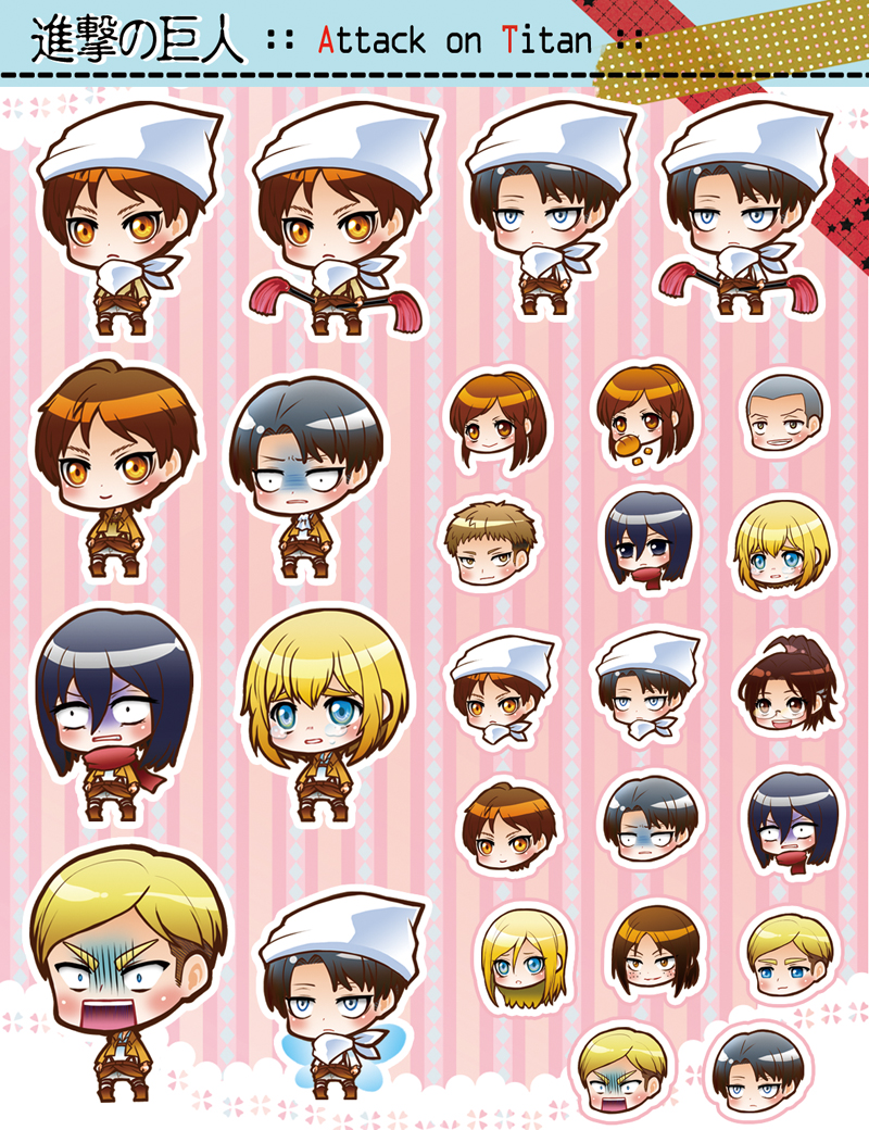 Attack on Titan  chibi 02 by moonu17