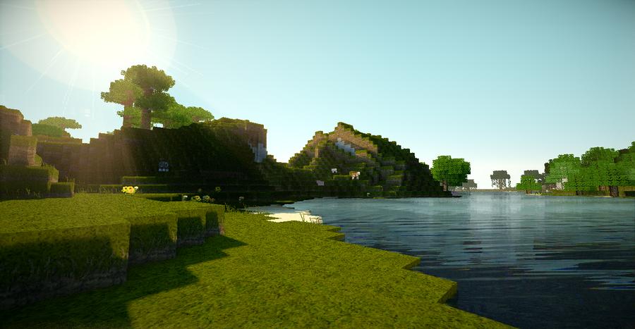 Minecraft water shader by aphexbravia
