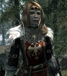 Lady Kendall in the Forests of Skyrim by soulstar999