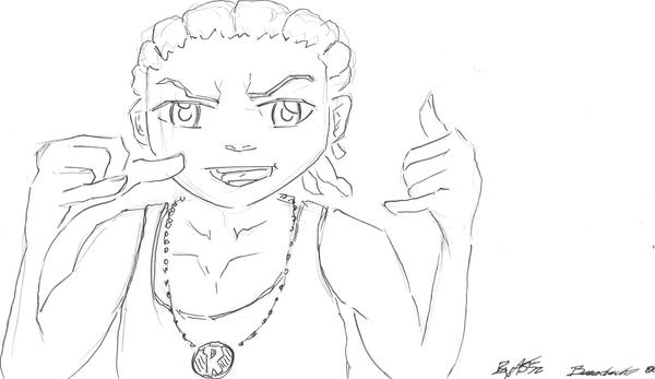 the boondocks riley coloring pages - photo#12