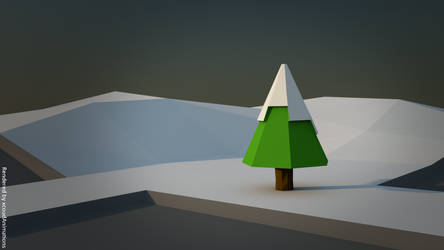 Snowy Hill - Poly Art