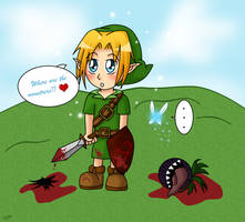Chibi Link's violent ... by Zelinky