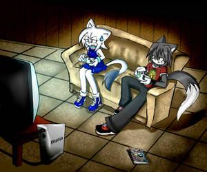 Makuro y Shiro+XBox by ShiroStaR