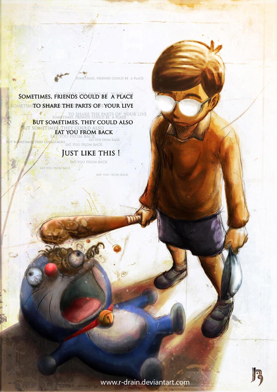 Nobita kills doraemon by R-DRAINDorimon Nobita