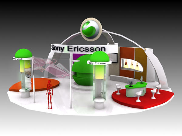 Exhibition Stand Etiquette : Sony ericsson exhibition stand by r drain on deviantart