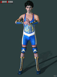 RER Martin Sandwitch Lucha libre outfit by panzerheavy